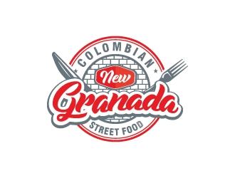 NEW GRANADA (Colombian Street Food) logo design