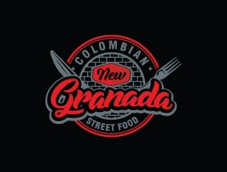 NEW GRANADA (Colombian Street Food) logo design