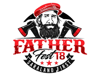 Father Fest 18 logo design