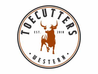 ToeCutters Western logo design