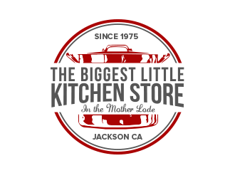 The Biggest Little Kitchen Store logo design