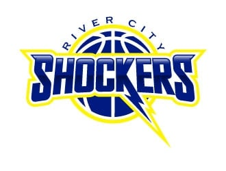 Shockers Basketball logo design