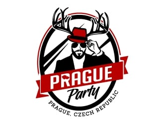 Prague Party logo design