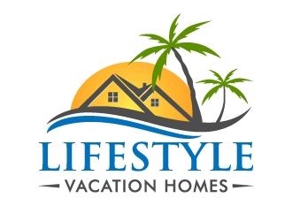Lifestyle Vacation Homes logo design