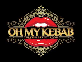 Oh My Kebab logo design