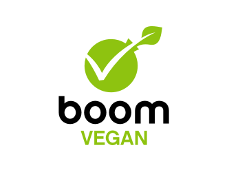 Boom, Vegan. logo design