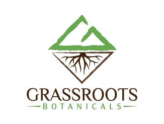 grassroots botanicals  logo design