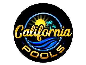 California Pools logo design