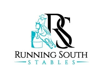 RS/Running South Stables logo design