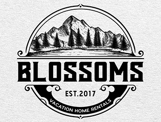 Blossoms  logo design