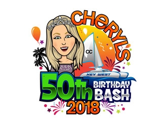 Cheryls 50th Birthday bash logo design