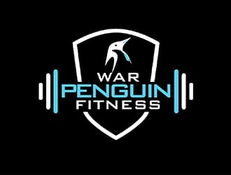 War Penguin Fitness logo design