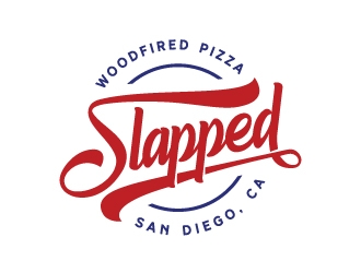 Slapped Woodfired Pizza logo design