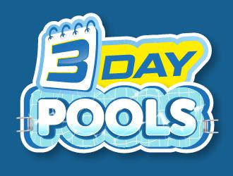 3 DAY POOLS logo design
