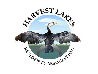 Harvest Lakes Residents Association logo design