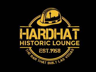 Hardhat Historic Lounge logo design