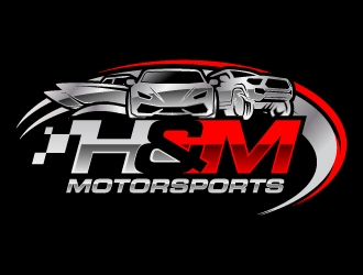 H&M Motorsports logo design