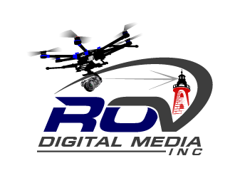 ROV Digital Media Inc or ROV logo design