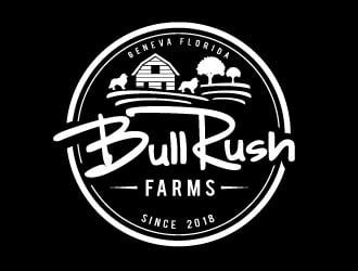 Bull Rush Farms logo design