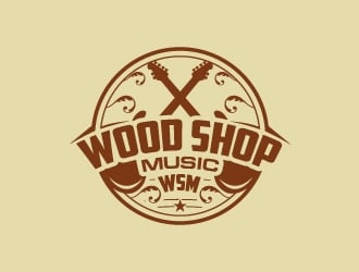 Wood Shop Music logo design
