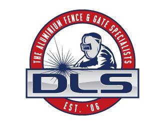 DLS [tagline: The aluminium fence & gate specialists] logo design