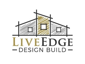 Live Edge Design Build logo design