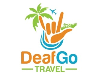 Deaf Go Travel logo design