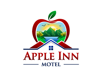Apple Inn Motel logo design
