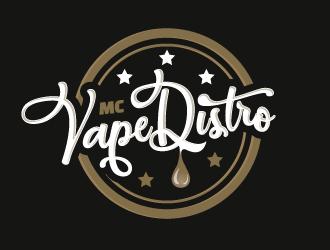 MC VAPE DISTRO logo design