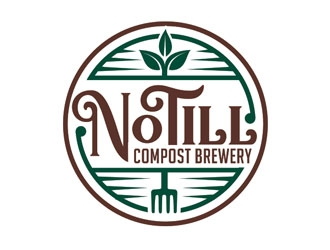 No Till Compost Brewery logo design
