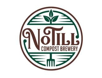 No Till Compost Brewery logo design