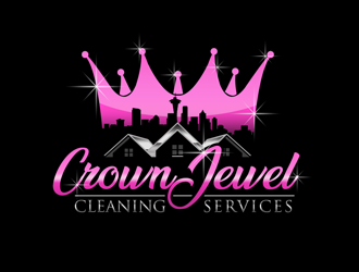 Crown Jewel Custom Cleaning logo design