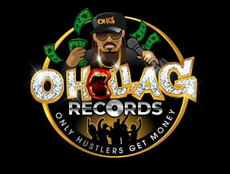 O Holla G Records logo design
