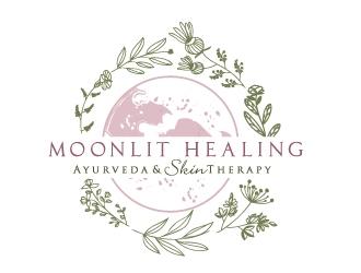 Moonlit Healing Ayurveda & Skin Therapy logo design