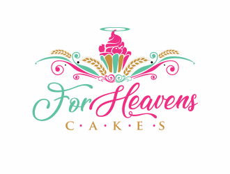 For Heavens Cakes logo design