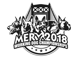 MER 2018 Working Dog Championships logo design