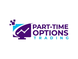 Part-time options trading logo design
