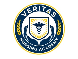 Veritas Nursing Academy logo design