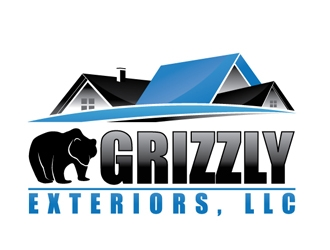 Grizzly Exteriors, LLC. logo design