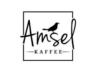 Amsel Kaffee logo design