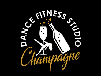 Champagne Dance Fitness Studio logo design