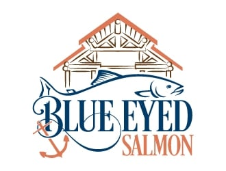 Blue Eyed salmon logo design