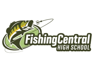 High School Fishing Central logo design