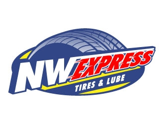 Northwest Express, Tires & Lube logo design
