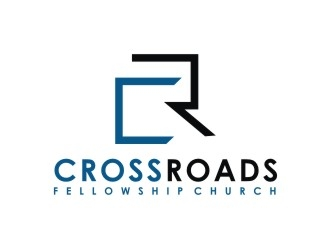 Crossroads Fellowship Church  logo design