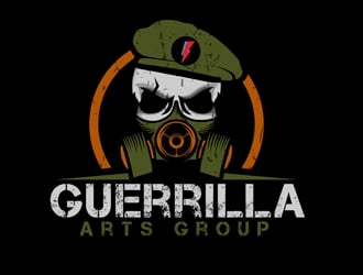 Guerrilla Arts Group or Guerrilla Arts logo design