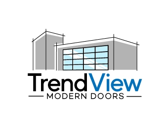TrendView Modern Doors logo design