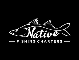 Native fishing charters  logo design