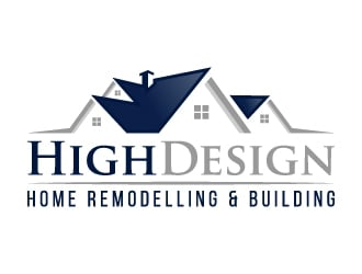 $148 HighDesign   Home Remodelling U0026 Building Logo Design