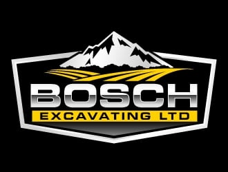 Bosch Excavating Ltd logo design winner